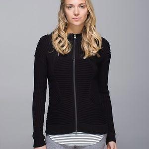 Lululemon Embrace Hoodie *Knit in Black Sz 4
